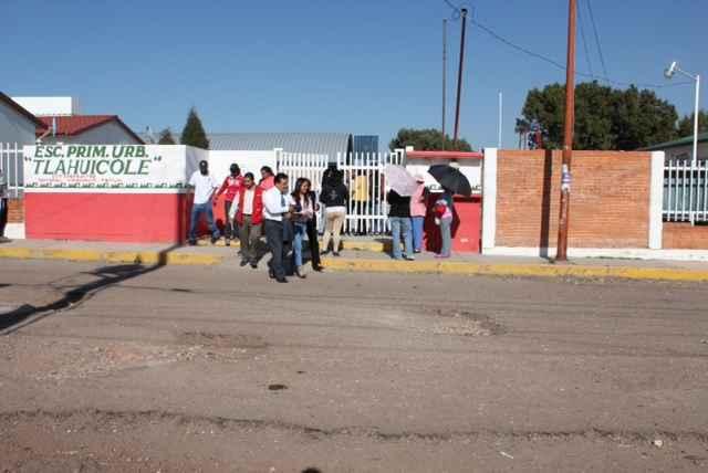 Policía Municipal de Tetla frustra intento de robo a escuela Tlahuicole