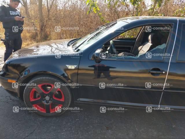 En persecución asesinan a balazos a sujeto en las curvas de Tetlatlahuca