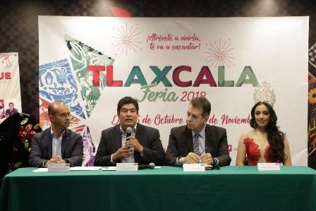 """Presentan en la CDMX programa de """"Tlaxcala Feria 2018"""""""