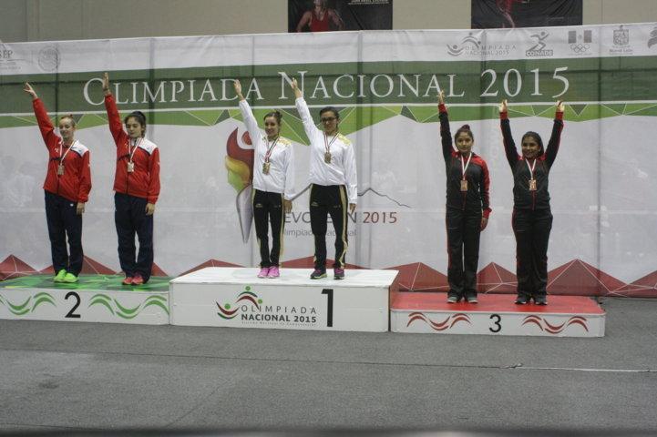 Suma gimnasia de trampolín dos bronces en Olimpiada Nacional