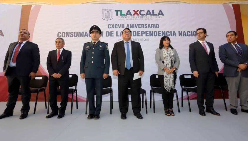 Conmemoran CXCVII Aniversario De La Consumación De La Independencia