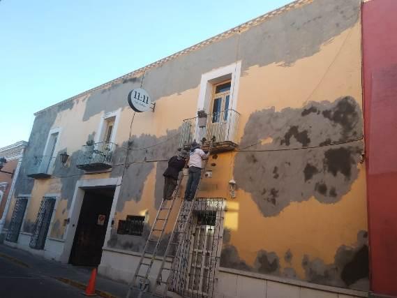 Dan seguimiento a la rehabilitación de fachadas en la Capital