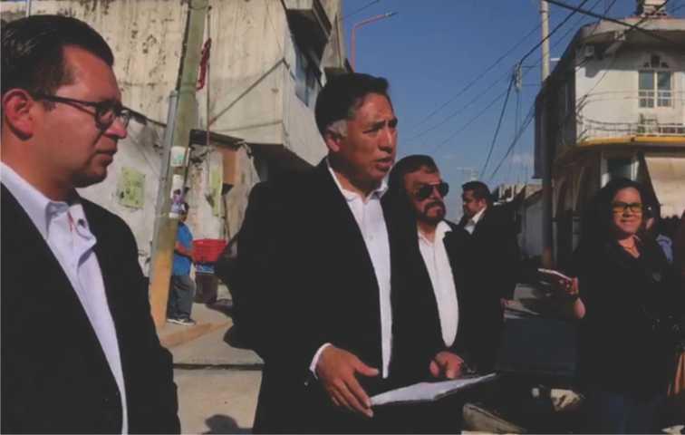 Jesús Herrera entrega obra de infraestructura en Xaltipa