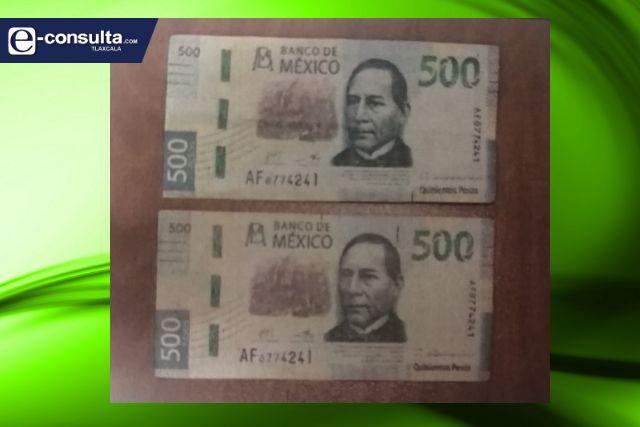Obtiene FGR vinculación a proceso por el uso de billete falso en Tlaxcala