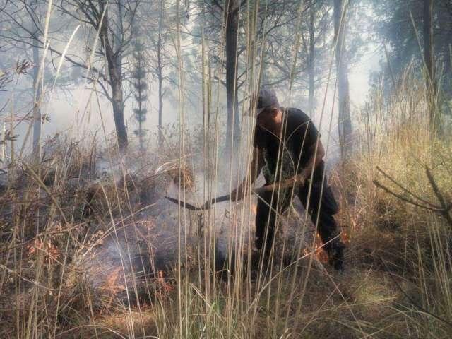 Otro incendio forestal, ahora en Chiautempan