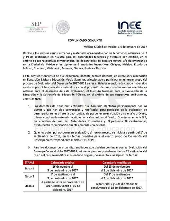 Busca INEE posicionar Programa de Evaluación de Mediano Plazo