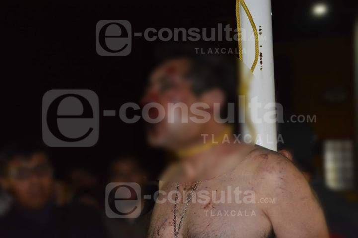 Intento de linchamiento en Hueyotlipan; ladrón era policía