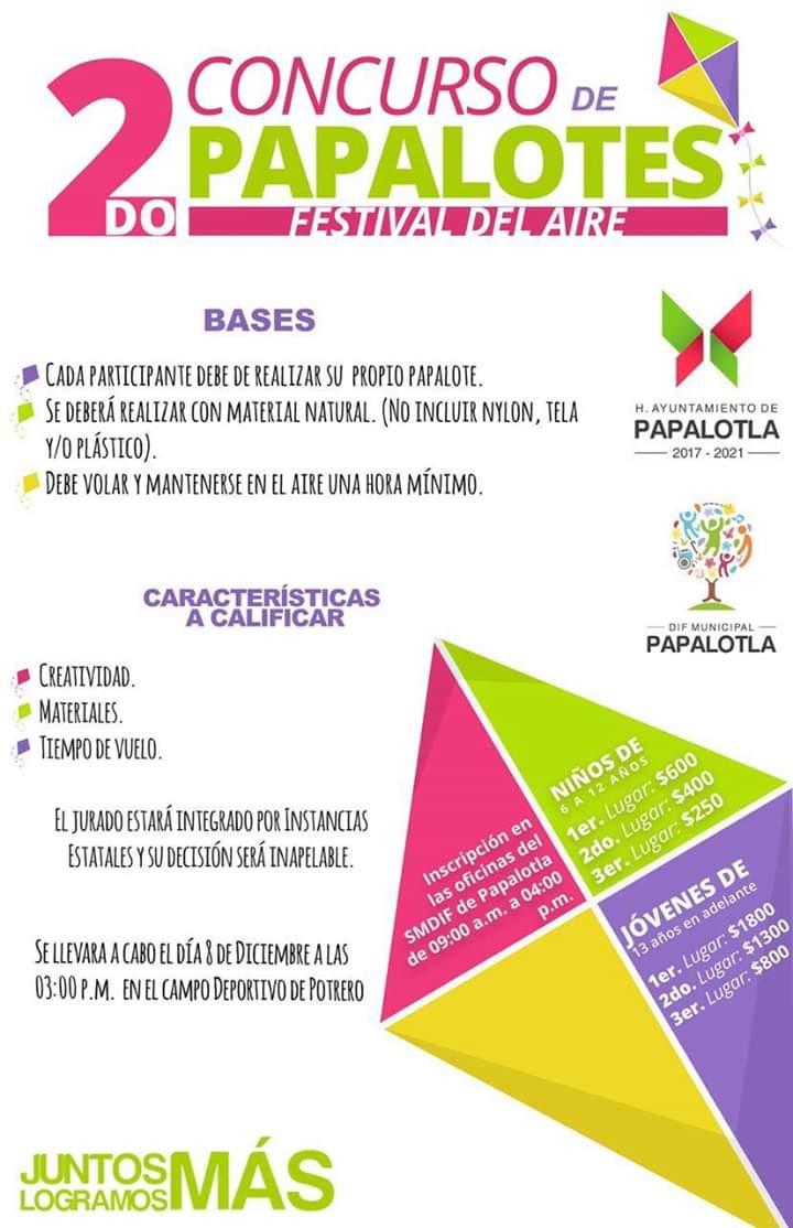 Lanza Ayuntamiento de Papalotla la convocatoria del 2do Festival del Aire