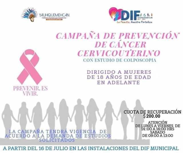 Ayuntamiento puso en marcha la campaña de prevención de Cáncer Cervicouterino