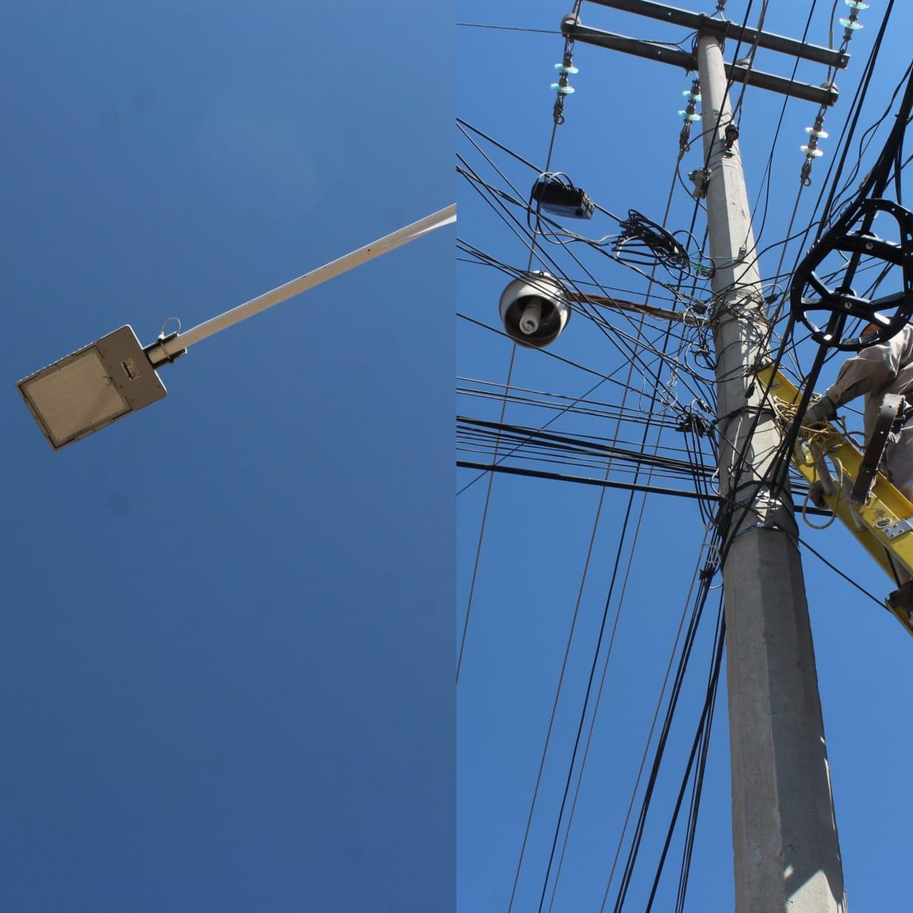 Instalan red de electrificación en calles de San Miguel Contla