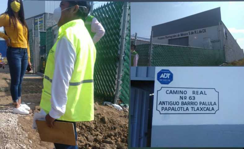 Inspeccionan a fábrica dedicada a la harina de pescado en Papalotla