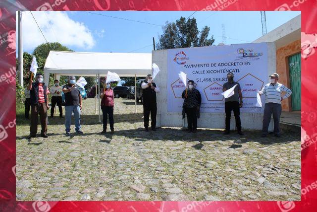 Arranque de obras en Apetatitlán es criticado por vecinos de Belén