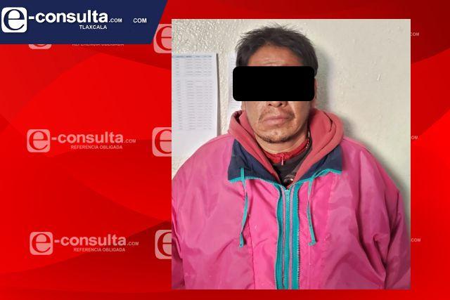 Presunto feminicida fue detenido por policia municipal de Chiautempan