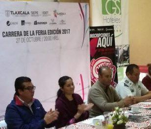 Presentan la carrera nocturna de la Feria de Tlaxcala 2017