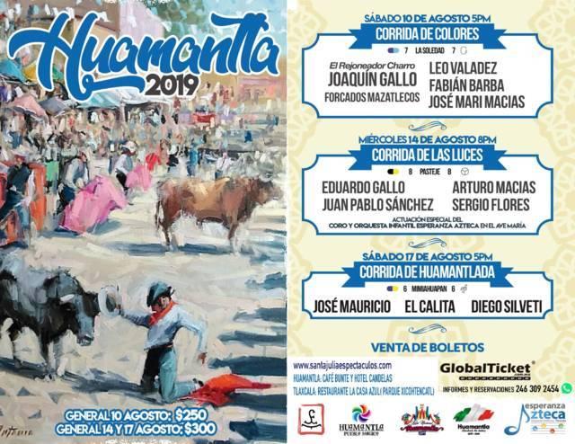 La fiesta brava llegará a la Feria de Huamantla este 10, 14 y 17 agosto: alcalde