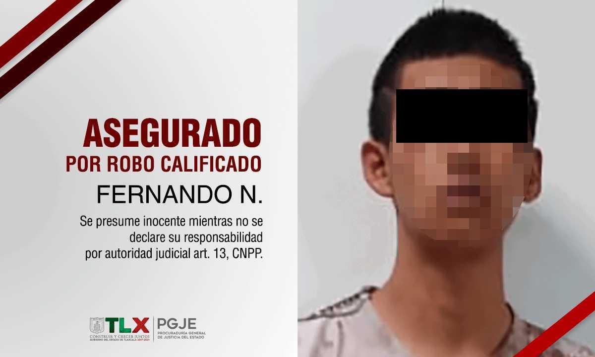 PGJE ejercita acción penal contra imputado por robo a transeúnte en San Pablo Del Monte