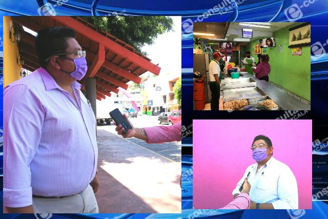 Mantienen operativo aleatorio en comercios para garantizar medidas de sanidad en Totolac