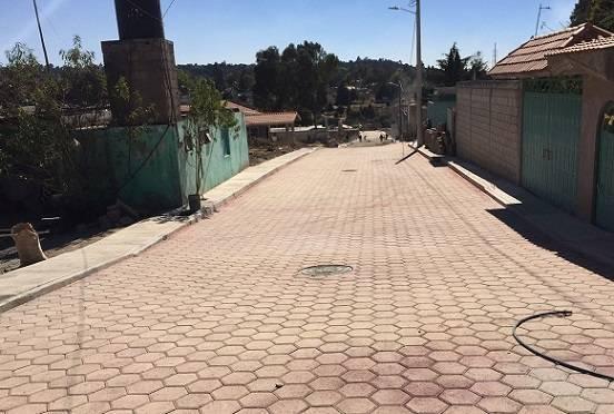 Calle Pioneros una de las muchas obras en beneficio de los ciudadanos de Texóloc