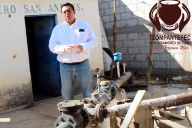 Rehabilitan pozo en beneficio de los habitantes de Tzompantepec
