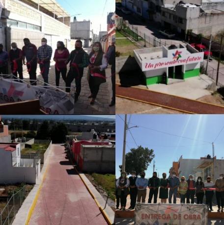 Entrega obras de impacto Héctor Domínguez Rugerio en El Alto