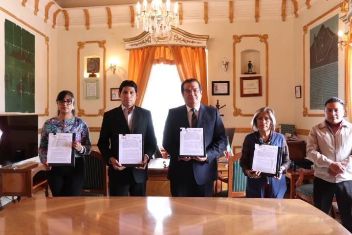 Ayuntamiento y Secretaria de Planeación y Finanzas signan convenio de colaboración
