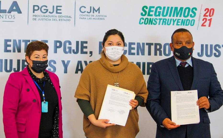 Firman convenio Ayuntamiento de Tlaxcala, PGJE y CJM