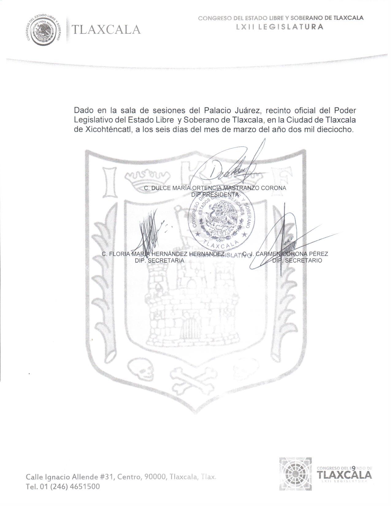 Convocatoria Parlamento Juvenil Tlaxcala 2018