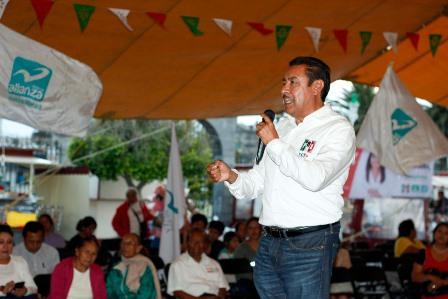 Dice Florentino que el PRI saldrá con la victoria en las urnas