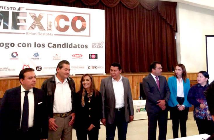 Candidatos panistas desairan a la COPARMEX; priístas nerviosos