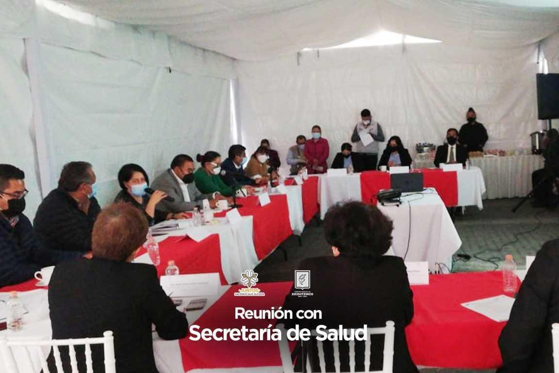 Acuerdan sector salud y Gobierno de Xicohtzinco redoblar esfuerzos contra covid-19