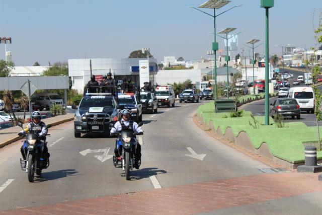 Reacción policíaca permite frustrar robo a Centro Comercial en Apizaco