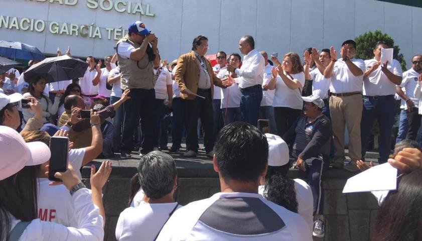 Delegado del IMSS tlaxcala, recibe muchas demandas del sindicato