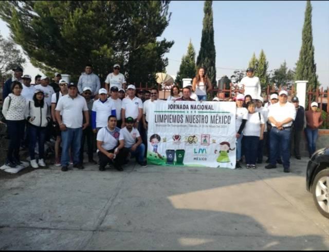 Ayuntamiento de Tzompantepec participó en la campaña nacional Limpiemos México