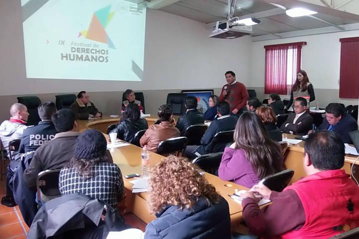 Prepara la CEDH noveno Festival de Derechos Humanos en Chiautempan