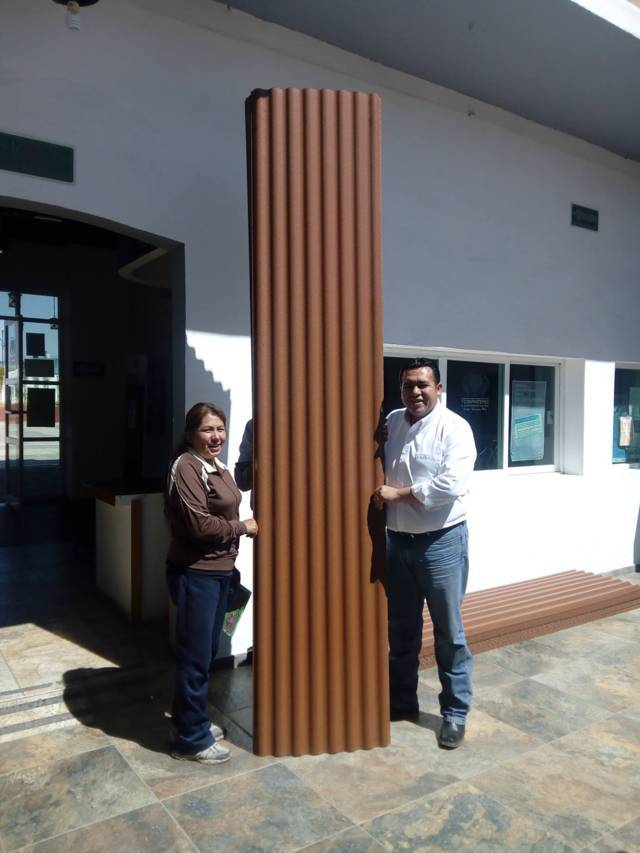 Con estas laminas plastificadas realizaran mejoras a sus viviendas: Rivera Mora