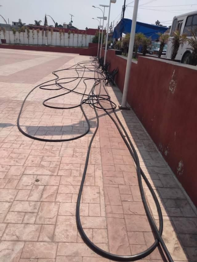 Policía de Tzompantepec frustra Robo de cable de Telmex en Quetzalcoapan
