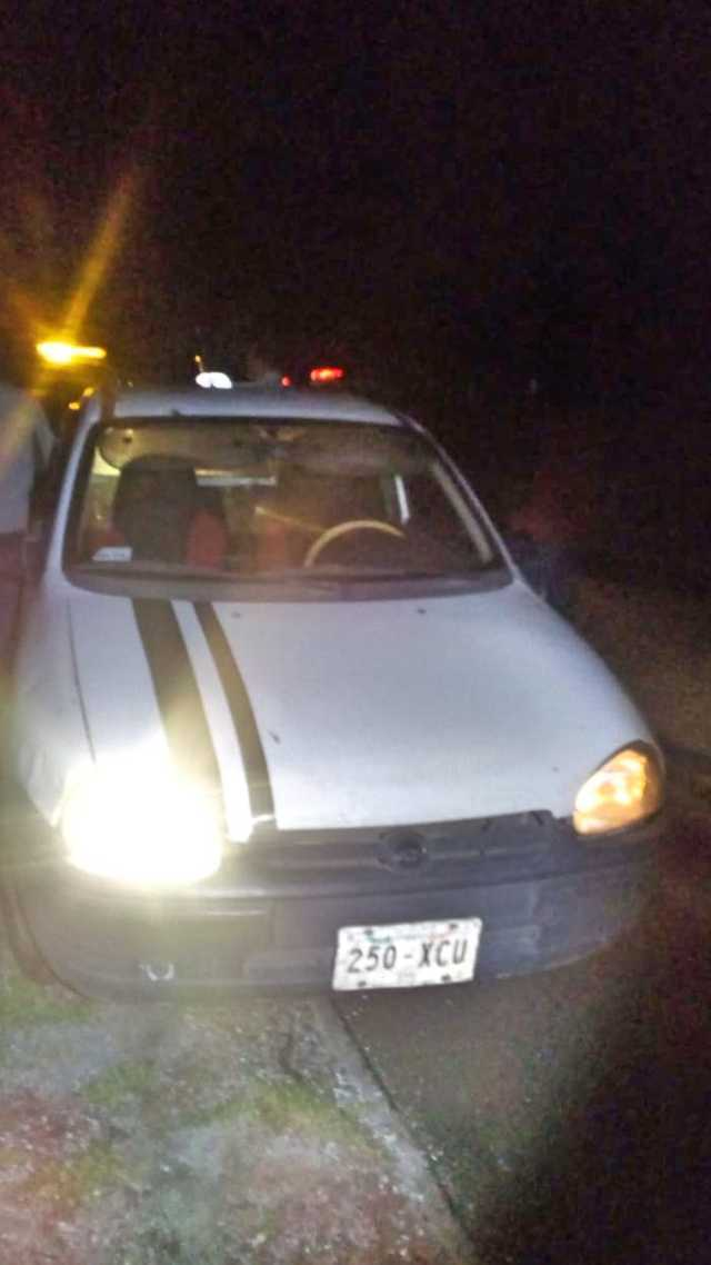 Policía Municipal de Santa Cruz Tlaxcala recupera vehículo robado