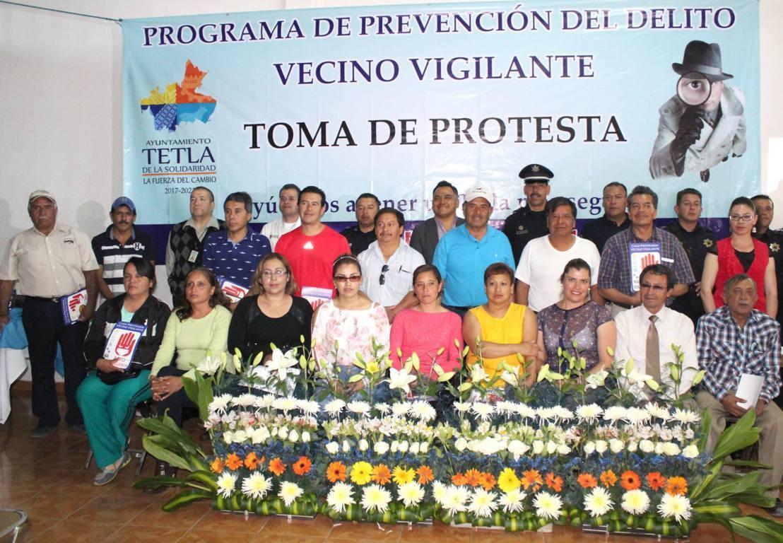 Se crean 36 comités de vecinos vigilantes en Tetla de la Solidaridad