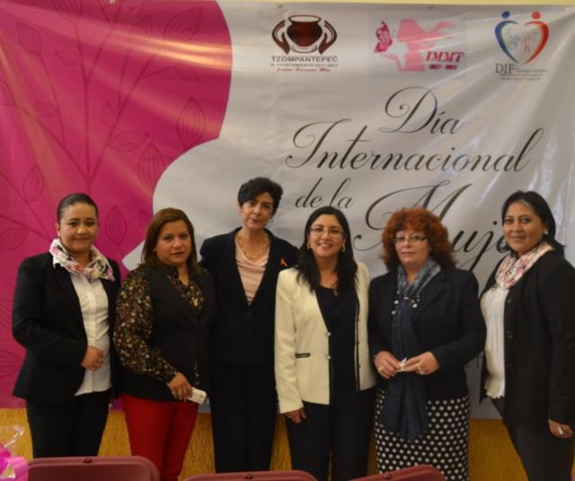 Se conmemoró en Tzompantepec el Día Internacional de la Mujer