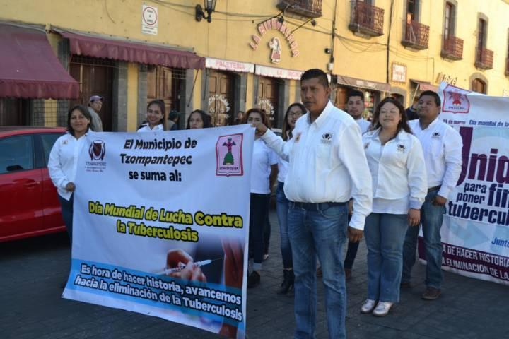 """Participa Tzompantepec en """"Día Nacional de Lucha Contra la Tuberculosis"""" en Huamantla"""