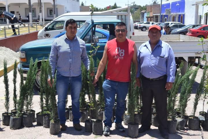 Entregan 190 árboles en el municipio de Tzompantepec