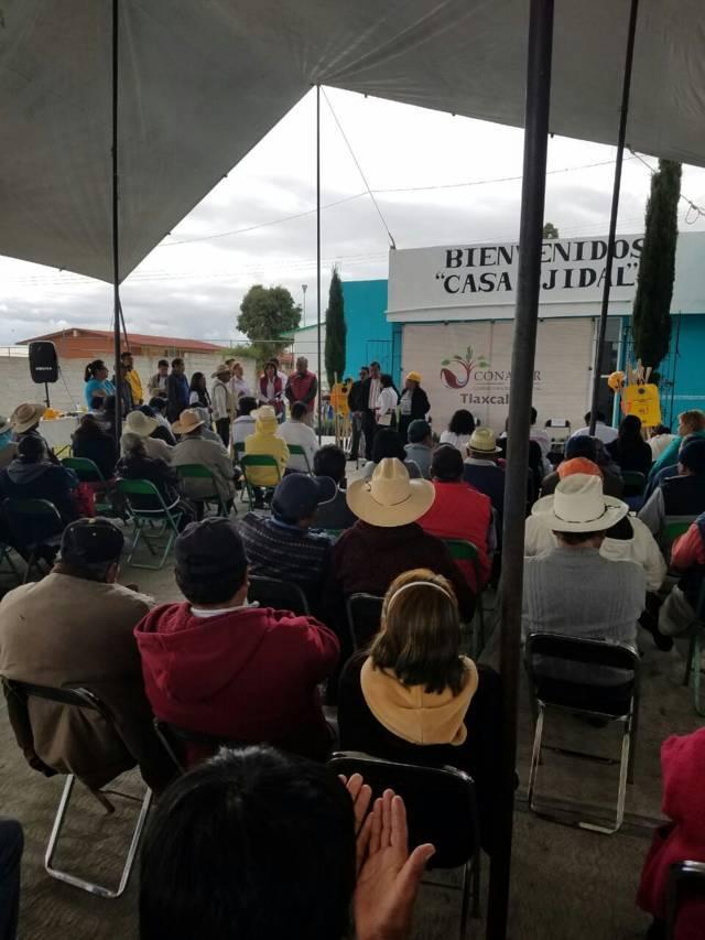Ignacio Ramirez gestiona recursos a favor del ejido de San Juan Bautista