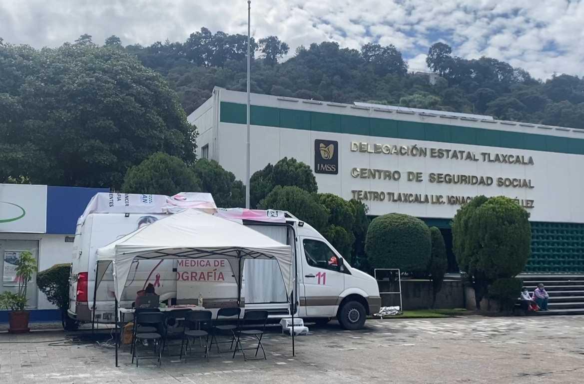 Durante octubre IMSS Tlaxcala dará servicio en sus clínicas, con mastógrafo móvil