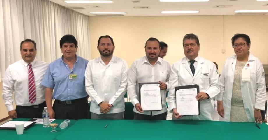 "IMSS Tlaxcala firmó convenio con Centro Médico Nacional ""Adolfo Ruíz Cortines"""