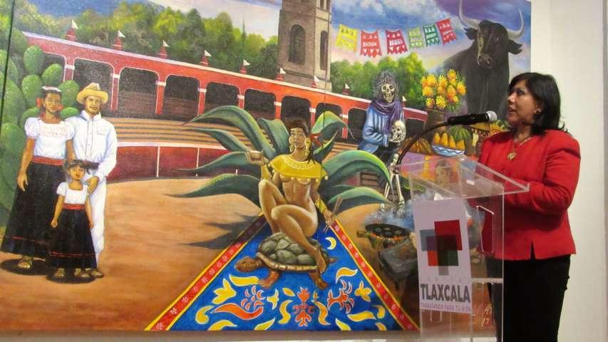 Donan artistas mural al Ayuntamiento de Tlaxcala
