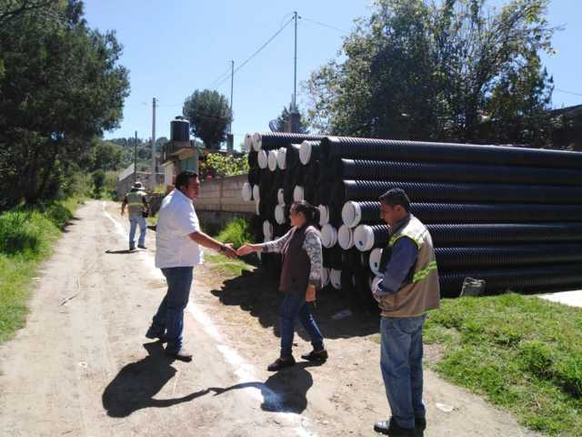 Obra pública de Tzompantepec prioridad del gobierno de Arturo Rivera Mora