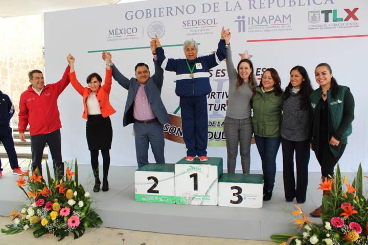 Tetla sede de Juegos Deportivos y Culturales para Adultos Mayores