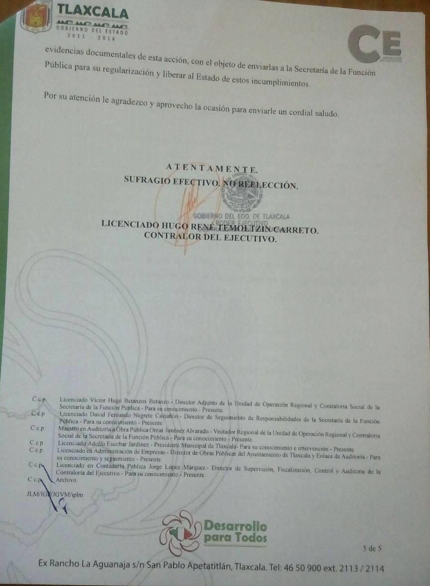 Exige CE reembolso de 19.9 mdp al ayuntamiento de Tlaxcala