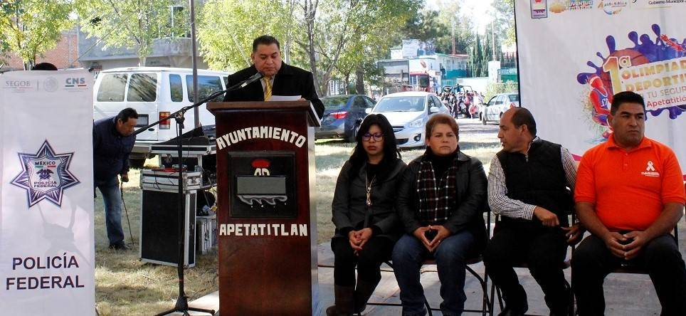 Celebran en Apetatitlán primer Olimpiada Deportiva