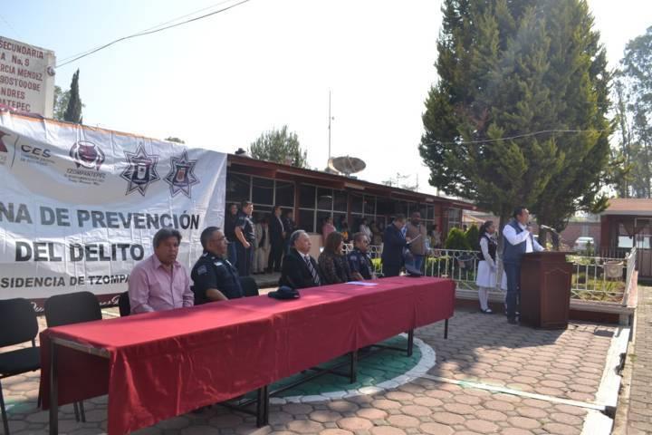 Se realiza en Tzompantepec la Semana de Prevención del Delito